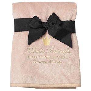 Elodie Details Girls Textile Pink Pearl Velvet Blanket - Powder Pink
