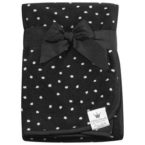 Elodie Details Unisex Textile Black Pearl Velvet Blanket - Dot