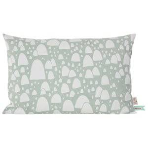 ferm LIVING Unisex Textile Green Mountain Tops Cushion - Mint