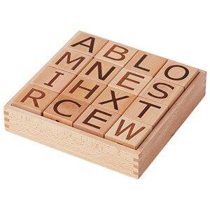 Kids Concept Unisex Construction Beige Neo Wooden Letter Blocks Natural