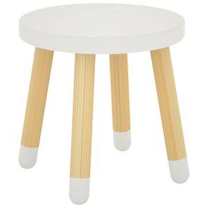 Flexa Furniture Unisex Furniture White Play Stool White