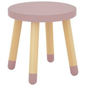 Flexa Furniture Unisex Furniture Pink Play Stool Rose