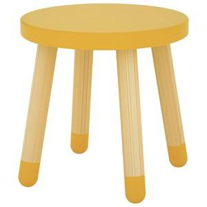 Flexa Furniture Unisex Furniture Yellow Play Stool Yellow
