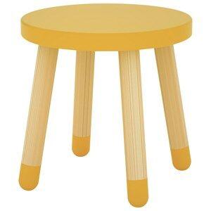 Flexa Furniture Unisex Furniture Yellow Play Stool Yellow