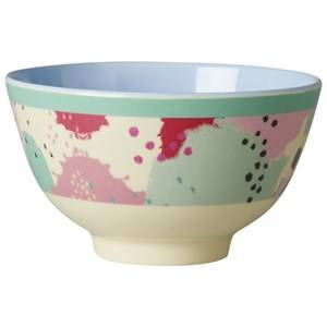 Rice Unisex Tableware Multi Small Melamine Bowl with Splash Print