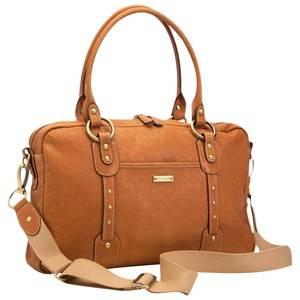 Storksak Unisex Norway Assort Bags Multi Elizabeth Leather Diaper Bag Tan