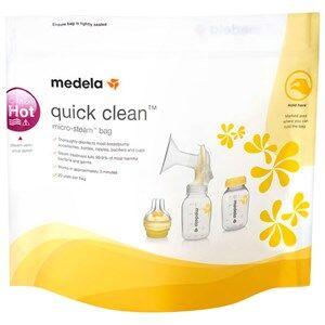 Medela Unisex Baby feeding Multi Quick Clean™ Microwave Bags - 5 Pack