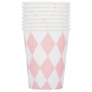 My Little Day Unisex Tableware Pink 8 Paper Cups - Light Pink Diamonds