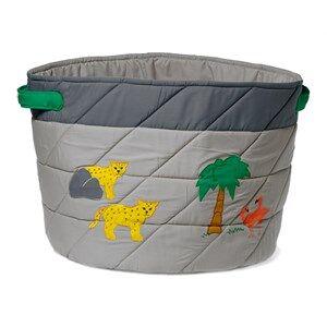 oskar&ellen; Unisex Storage Grey Wild Animals Storage Basket