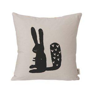 ferm LIVING Unisex Textile Beige Rabbit Cushion