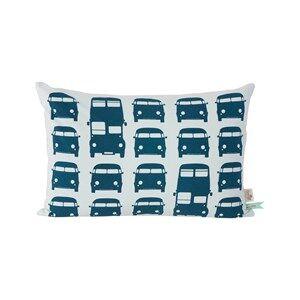 ferm LIVING Unisex Textile Blue Rush Hour Cushion