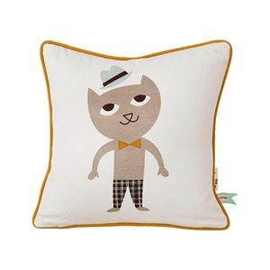 ferm LIVING Unisex Textile White Cat Cushion