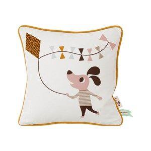 ferm LIVING Unisex Textile White Dog Cushion