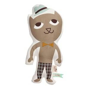 ferm LIVING Unisex Textile Multi Mr. Cat Cushion