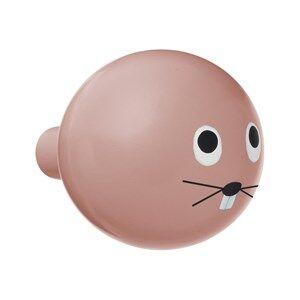 ferm LIVING Unisex Storage Pink Rabbit Hook
