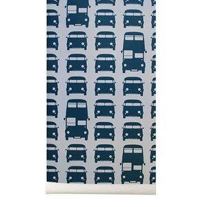ferm LIVING Unisex Home accessories Blue Rush Hour Wallpaper - Petrol