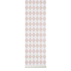 ferm LIVING Unisex Home accessories Grey Harlequin Wallpaper - Grey