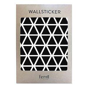 ferm LIVING Unisex Home accessories Black Mini Triangles Wallsticker - Black