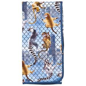 Image of Molo Unisex Textile Multi Niles Blanket Climbing Monkeys