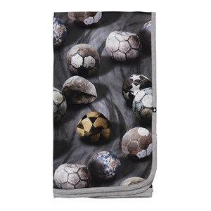 Molo Unisex Textile Grey Niles Blanket Dusty Soccer