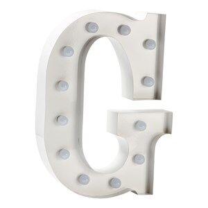 Sweetlights Unisex Lighting White Letter G Mini Marquee Lights White