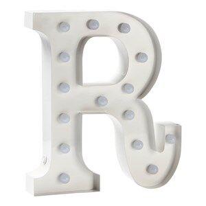 Sweetlights Unisex Lighting White Letter R Mini Marquee Lights White