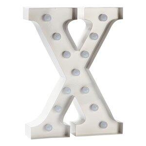 Sweetlights Unisex Lighting White Letter X Mini Marquee Lights White