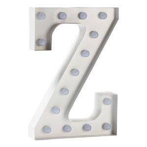 Sweetlights Unisex Lighting White Letter Z Mini Marquee Lights White