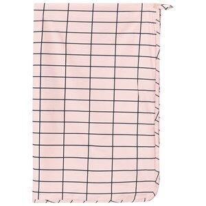 Tinycottons Unisex Textile Pink Grid Towel Pale Pink/Dark Navy