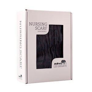 Les Enfants Unisex Norway Assort Textile Black Nursing Scarf Black