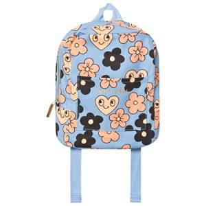 Mini Rodini Unisex Bags Blue Flowers Backpack Light Blue