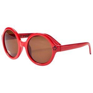 Mini Rodini Unisex Eyewear Red Solid Round Sunglasses Red