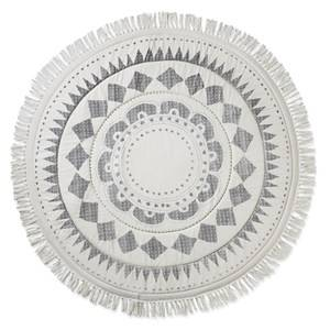 Elodie Details Unisex Textile White Play Mat Graphic Devotion Fringe