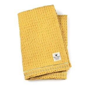 Elodie Details Unisex Textile Yellow Cotton waffle blanket Sweet Honey