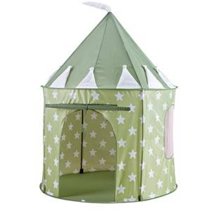 Kids Concept Unisex Outdoor play Green Play Tent Star Light Green