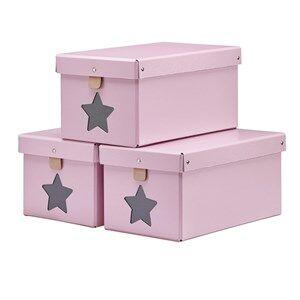 Kids Concept Unisex Storage Pink Pink Shoe/Toy Boxes 3-Pieces