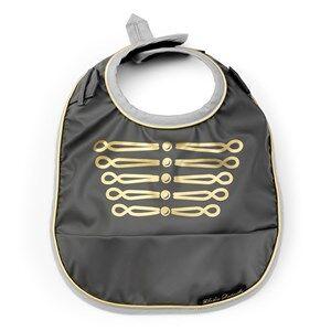 Elodie Details Unisex Baby feeding Grey Baby Bib - Golden Grey