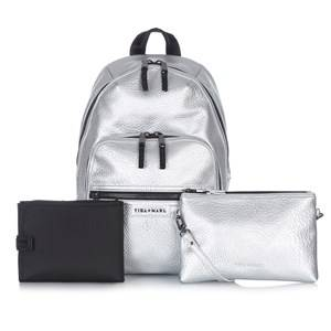 Tiba + Marl Girls Bags Silver Elwood Backpack Silver