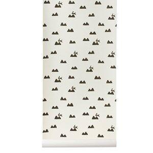 ferm LIVING Unisex Home accessories White Rabbit Wallpaper - Off-White