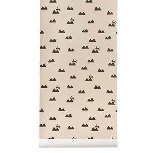 ferm LIVING Unisex Home accessories Pink Rabbit Wallpaper - Rose