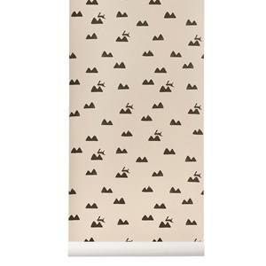 ferm LIVING Unisex Home accessories Pink Rabbit Wallpaper - Rose
