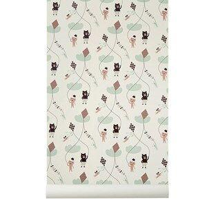 ferm LIVING Unisex Home accessories Pink Kite Wallpaper - Rose