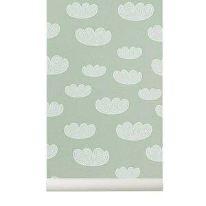 ferm LIVING Unisex Home accessories Green Cloud Wallpaper - Mint