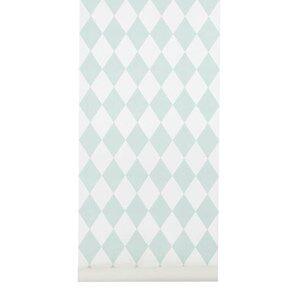 ferm LIVING Unisex Home accessories Green Harlequin Wallpaper - Mint