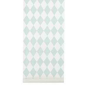 ferm LIVING Unisex Home accessories Green Harlequin Wallpaper - Mint