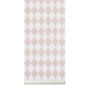 ferm LIVING Unisex Home accessories Pink Harlequin Wallpaper - Rose