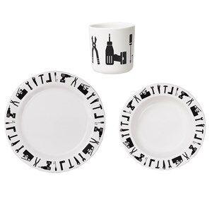 Design Letters Unisex Norway Assort Tableware White Tool School Melamine Set White