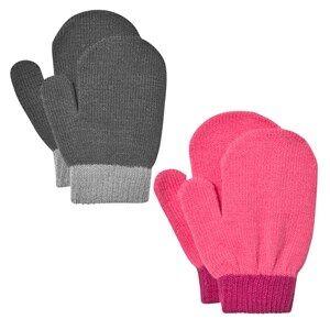 Image of Lindberg Unisex Gloves and mittens Multi Lanna Magic Mittens Black And Cerise