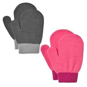 Image of Lindberg Unisex Gloves and mittens Multi Lanna Magic Mittens Black And Cerise