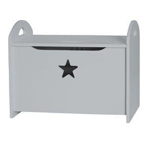 Kids Concept Unisex Storage Grey Star - Grey Wooden Storage/Toy Chest